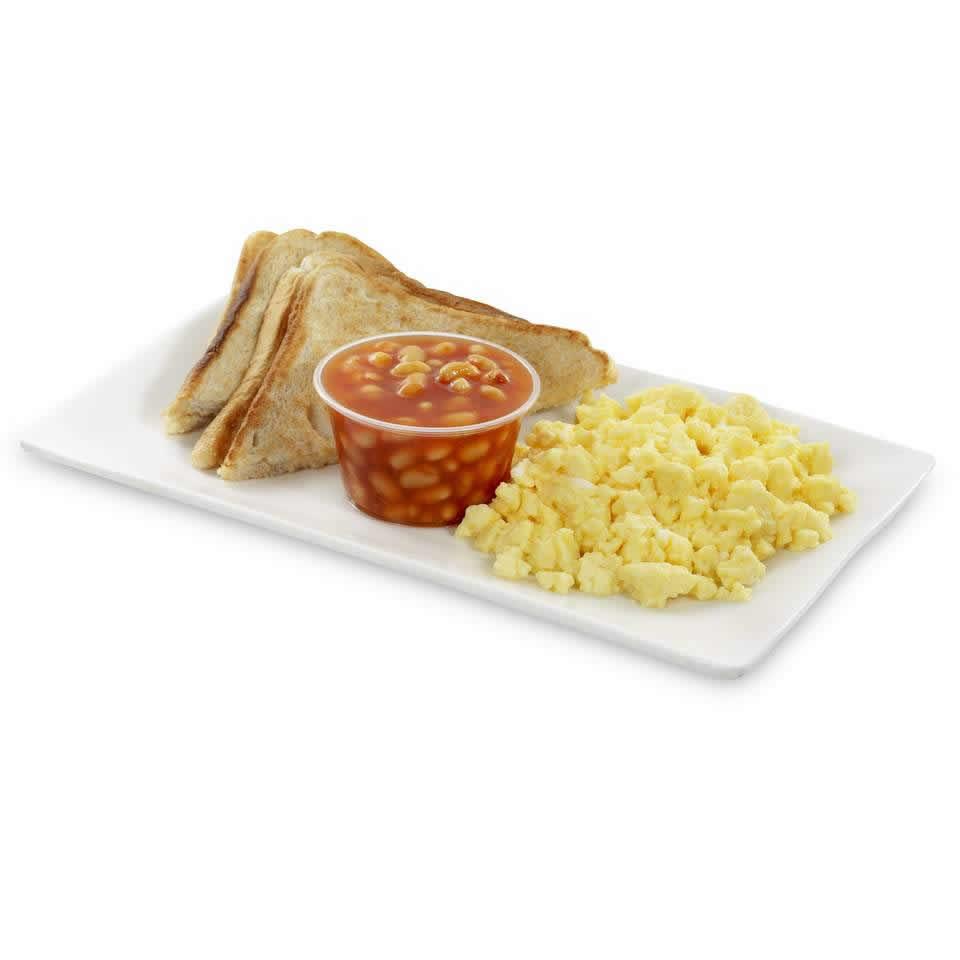 Scrambled Egg, Beans & Toast